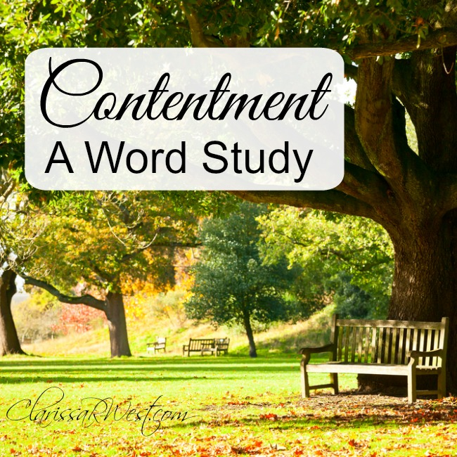 Contentment - a word study and eternal perspective