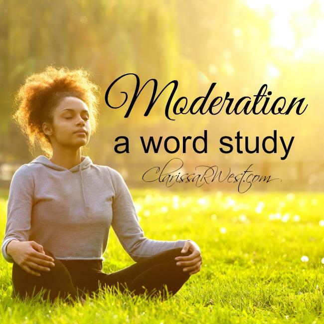 Moderation - a word study