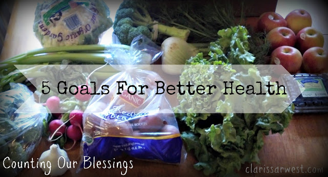 5 Goals For Better Health