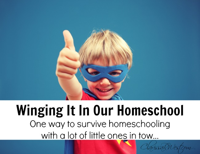 Winging It In Our Homeschool – Teaching With Lots Of Little Ones In Tow