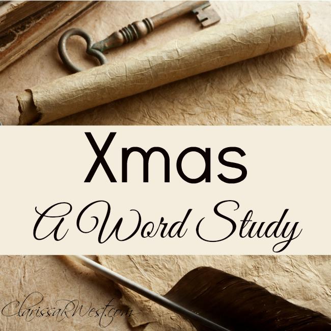 Xmas - A Word Study