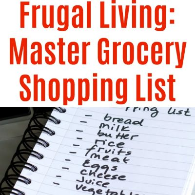 Frugal Living: Master Grocery Shopping List