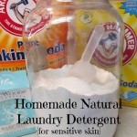 Homemade Natural Laundry Detergent for Sensitive Skin {free printable}