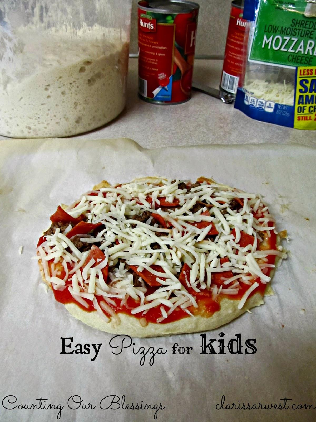 Friday is Italian Night (easy pizza recipe)