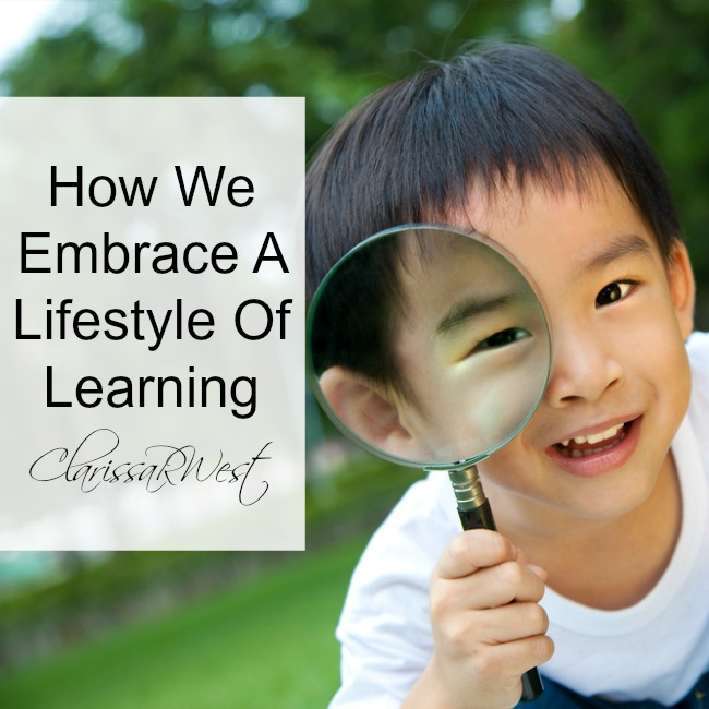 how this large family embraces a lifestyle of learning (or delight-directed learning)