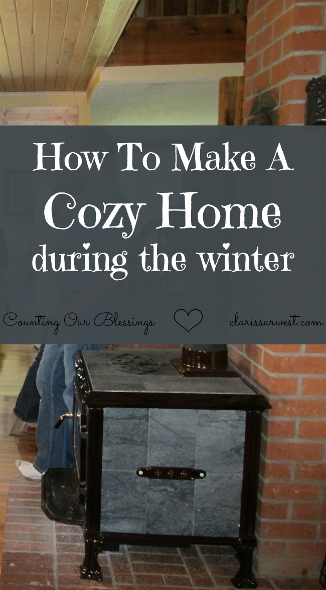 how to make a cozy home during the winter