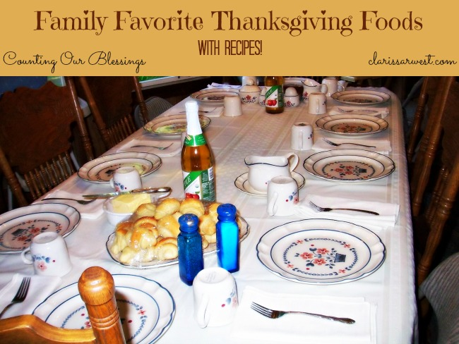 family favorite thanksgiving foods