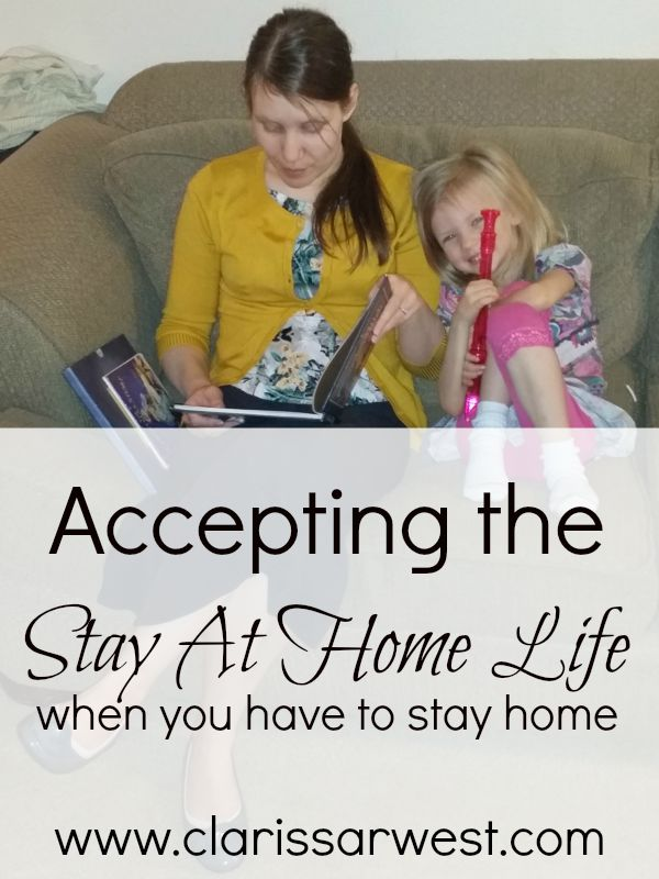 accepting the stay at home and special needs life