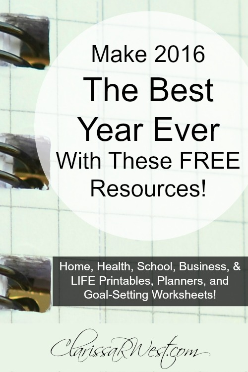 Make 2016 The Best Year Ever With These FREE Resources!