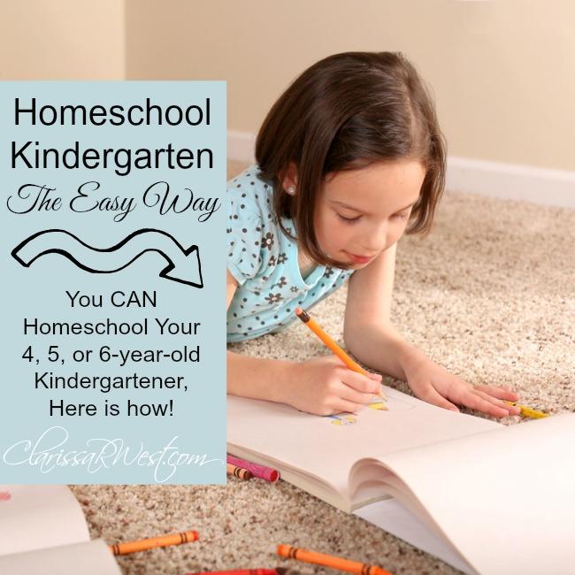 Homeschool Kindergarten The Easy Way