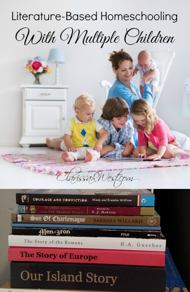 Literature based homeschooling with multiple kids