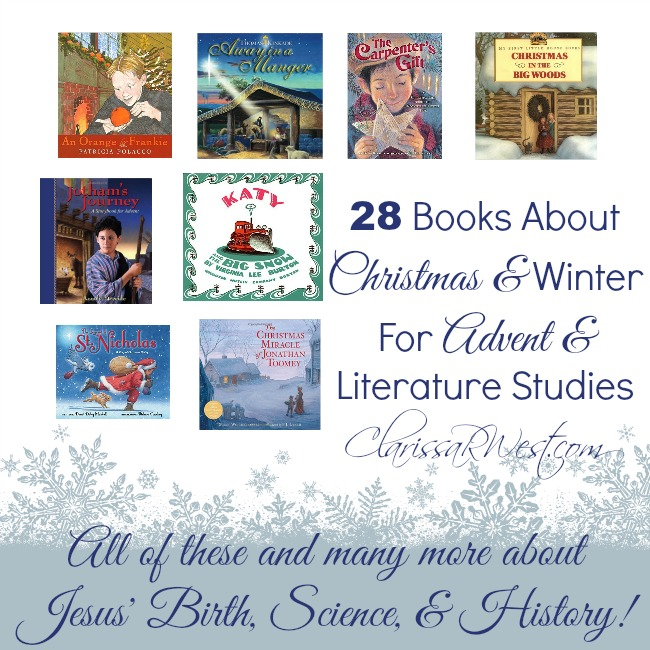28 Books About Christmas and Winter ffor Advent and Literature Studies for Homeschool
