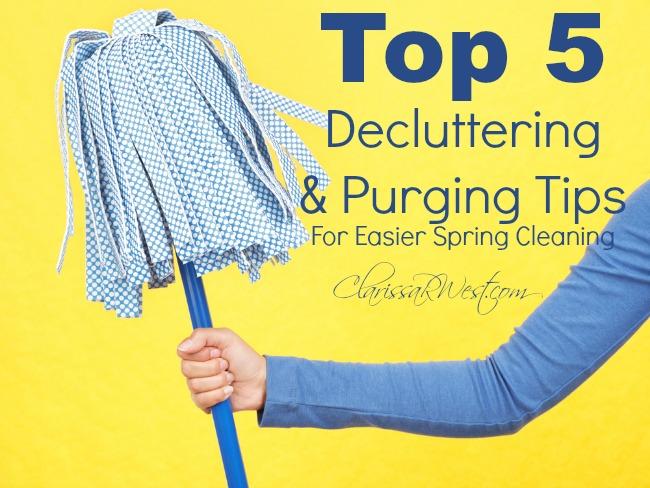 Top 5 Decluttering & Purging Tips