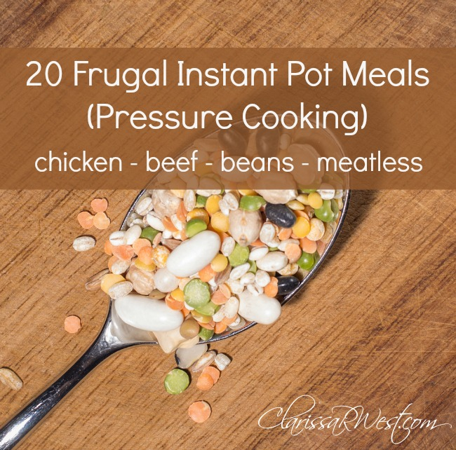 20 Frugal Instant Pot Meals (Pressure Cooking)