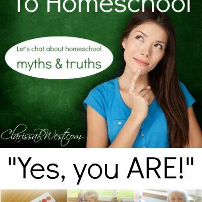 I'm Not Cut Out To Homeschool (homeschool myths & truths)