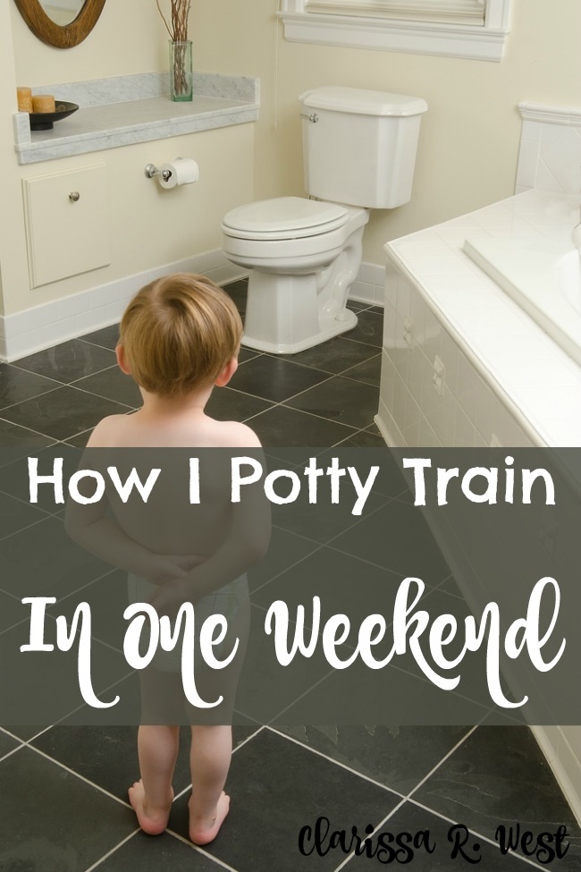 How I Potty Train In One Weekend (or any 3 days)