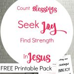 New Year's Resolution: Count Blessings, Seek Joy, Find Strength In Jesus {FREE Printable}