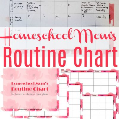 {free printable} Homeschool Mom's Routine Chart
