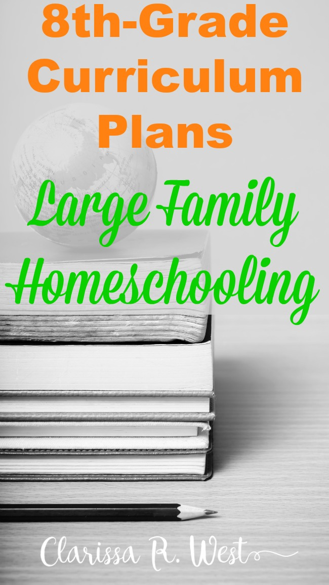 8th-Grade Curriculum Plans | Large Family Homeschooling