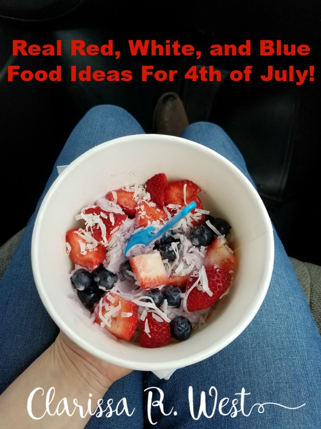 real red, white, and blue food ideas