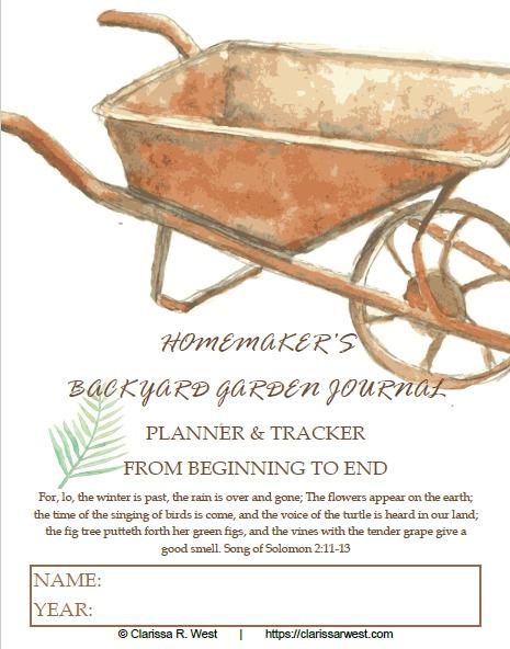 homemaker's backyard garden journal cover
