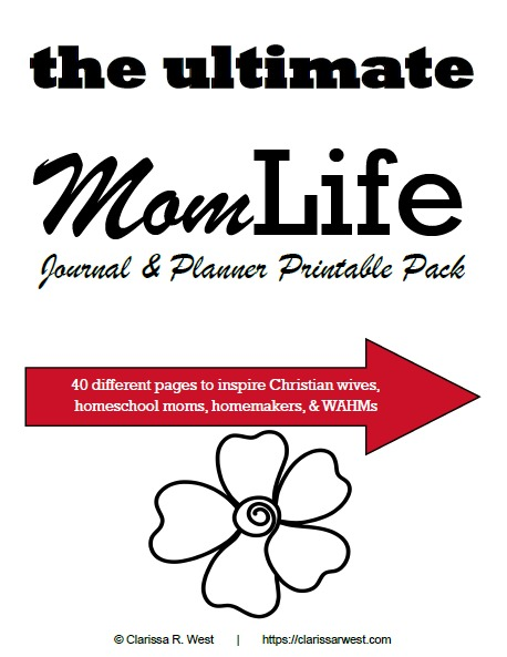 the ultimate mom life journal & planner printable pack cover