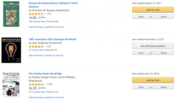 Amazon Wish List Sample