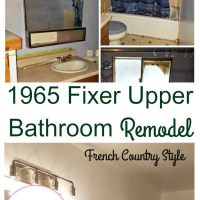 1965 Fixer Upper Bathroom Remodel – French Country Style