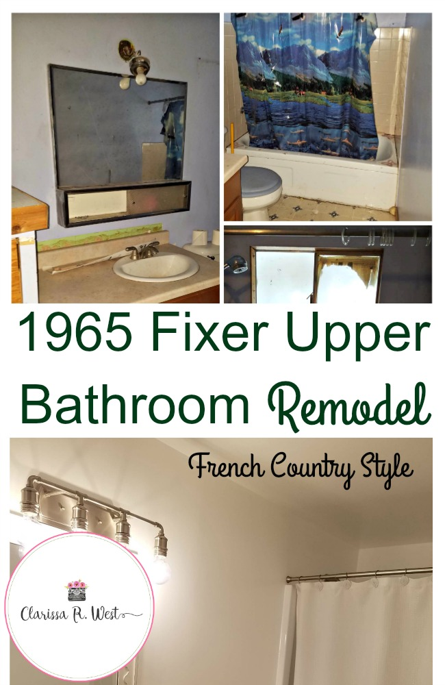 1965 fixer upper bathroom remodel french country style