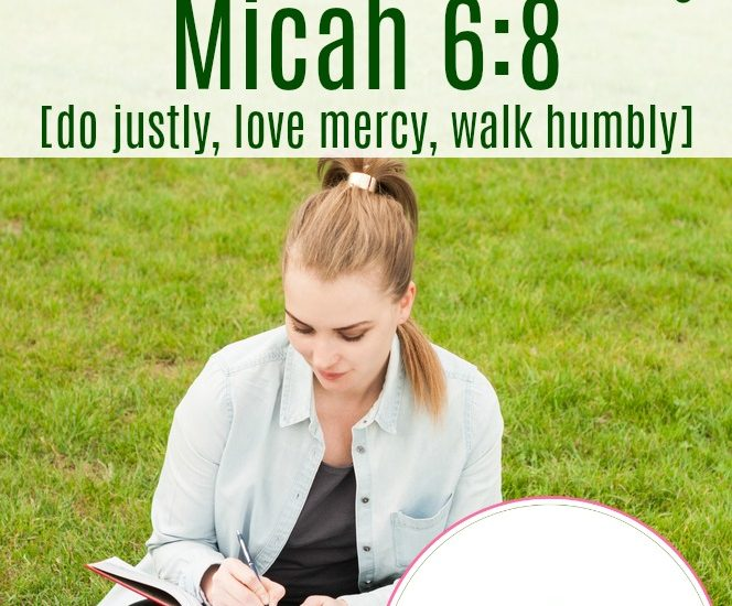 Biblical Word Study: Micah 6:8 [do justly, love mercy, walk humbly]