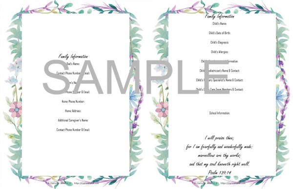 sample All Of The Things Planner and Record Keeper for an extra special family 2