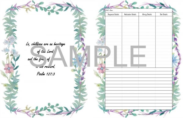 sample All Of The Things Planner and Record Keeper for an extra special family 3