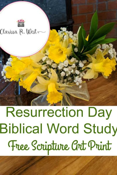 Resurrection Day Biblical Word Study | FREE Scripture Art Print