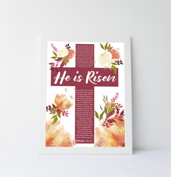 Resurrection Day Scripture Art Print