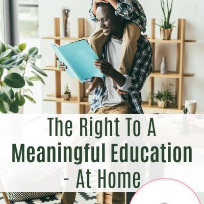 The Right To A Meaningful Education – At Home