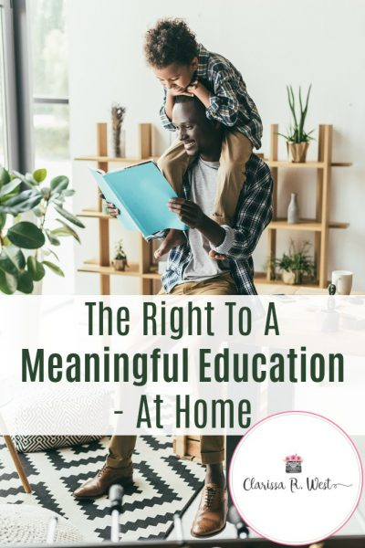 The Right To A Meaningful Education - At Home