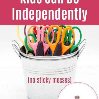 Super Easy Crafts Kids Can Do Independently (no sticky messes)