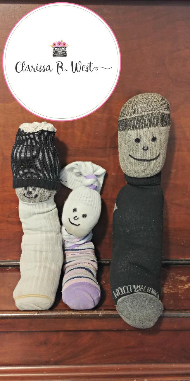 sock people kids craft