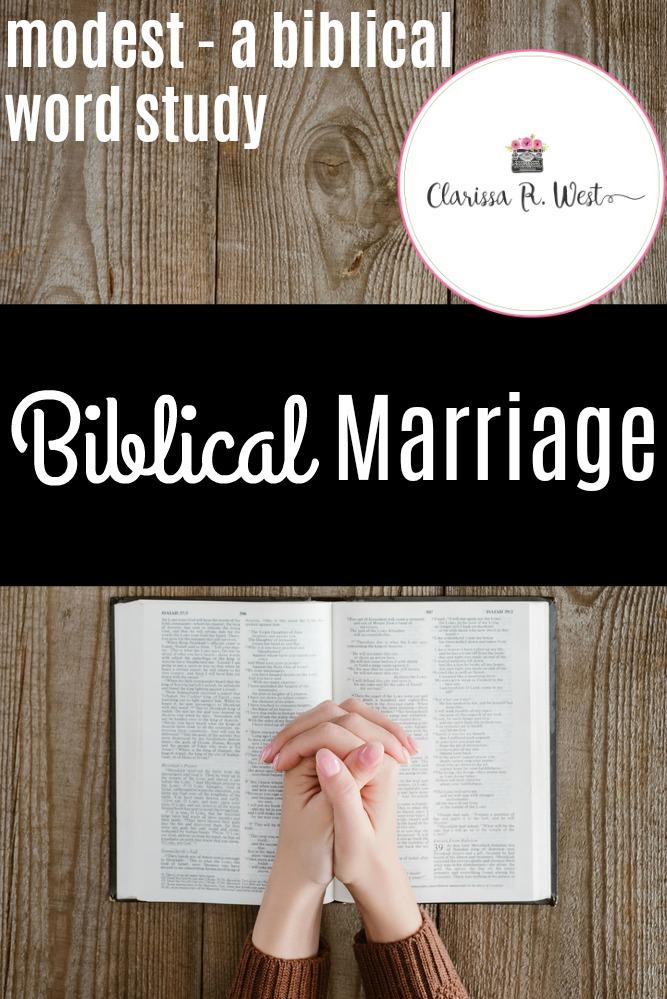 Modest-a-biblical-word-study-Biblical-Marriage