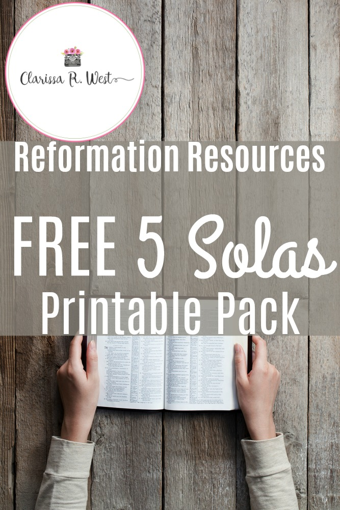 Reformation Resources | FREE Five Solas Printable Pack