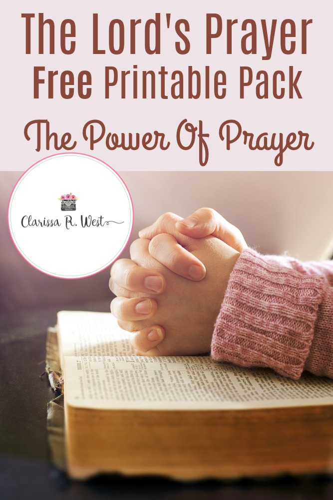 The Lord's Prayer Free Printable Pack The Power Of Prayer