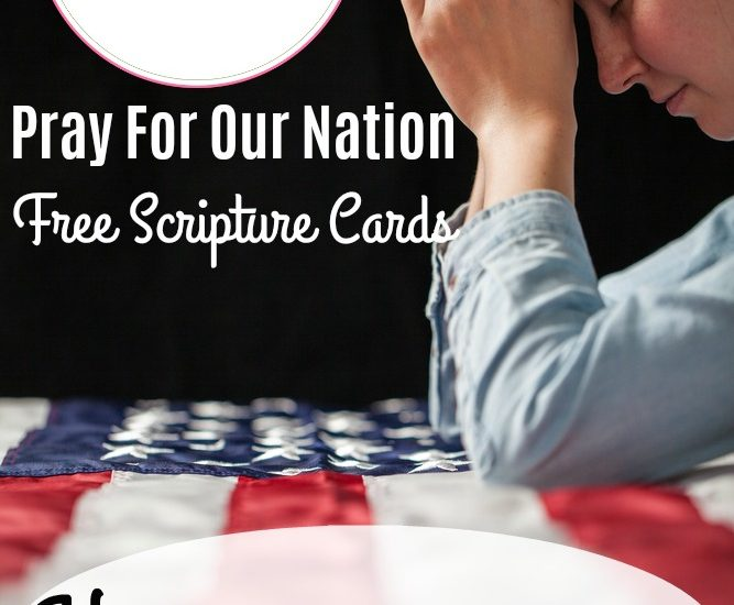 Pray For Our Nation FREE Scripture Cards | How A Christian Should Vote